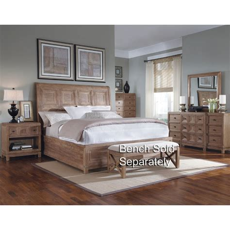 White And Oak Bedroom Furniture by Ventura White Oak 6 Bedroom Set