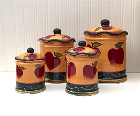 apple kitchen canisters apple decorations for kitchen d 233 cor ideas great gift ideas