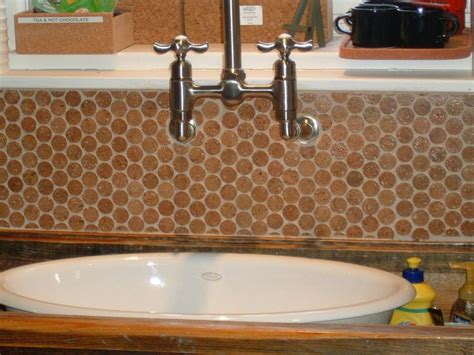 wine cork backsplash upcycle