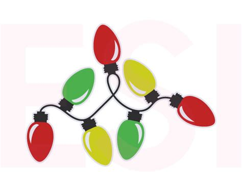 christmas lights svg dxf eps christmas cutting files