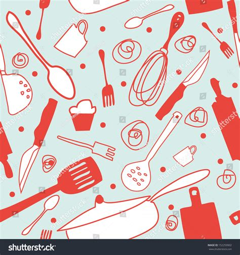 kitchen pattern seamless cook background retro kitchen wallpaper