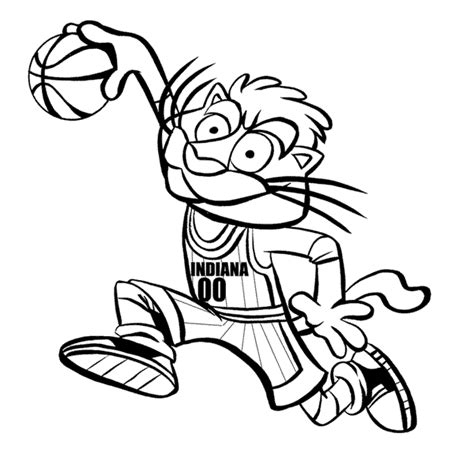 nba mascots coloring pages nba coloring pages indiana pacers mascot coloring4free