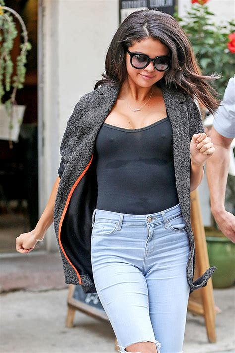Selena Gomez See Through No Bra | selena gomez goes braless in brooklyn page six