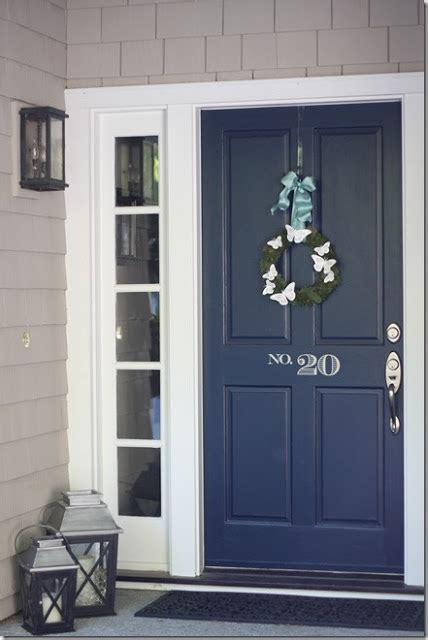 navy blue front door the lilac lobster picking a front door color