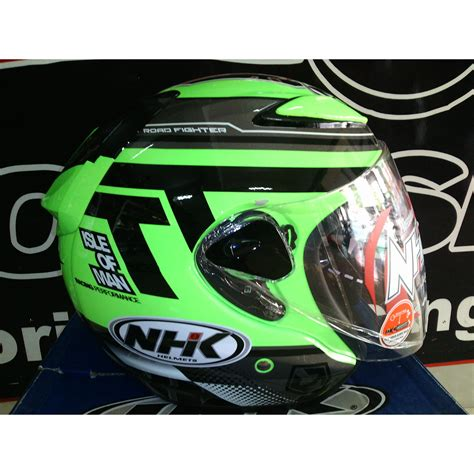 Helm Nhk Lotus R6 Helm Nhk R6 Isle Of Edition Green Fluorescent Elevenia