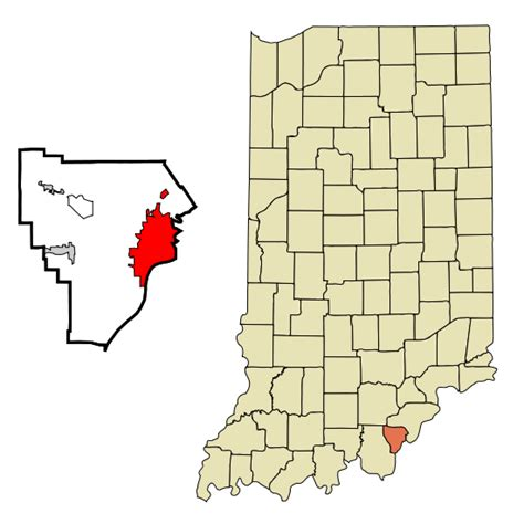 Floyd County Indiana Search File Floyd County Indiana Incorporated And Unincorporated Areas New Albany Highlighted Svg