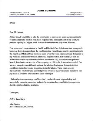 Promotion Letter Manager request letter to manager for promotion