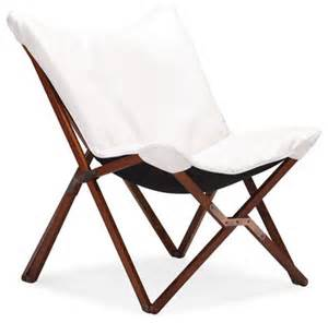 Modern Folding Chairs by Modern White Folding Lounge Chair Draper Modern