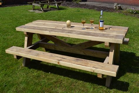 garden picnic bench picnic bench glasgow wood recycling