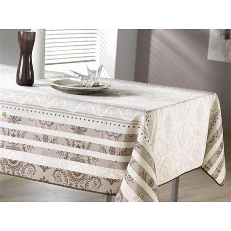 Nappe Rectangulaire Grise 1224 by Nappe Rectangulaire Arabesque Grise Et Taupe Achat Nappe
