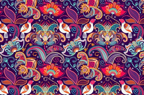 wallpaper batik art colorful seamless pattern graphics creative market
