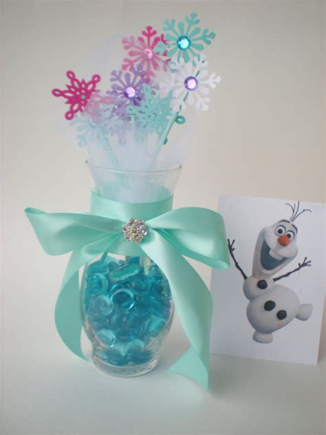 frozen table centerpieces frozen snowflake centerpiece snowflakes and tulle high