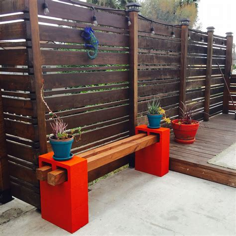 bench made from cinder blocks handmade cinder block bench made by me my diy s