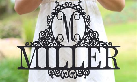 groupon morgann hill design monogrammed last name wall signs morgann hill designs