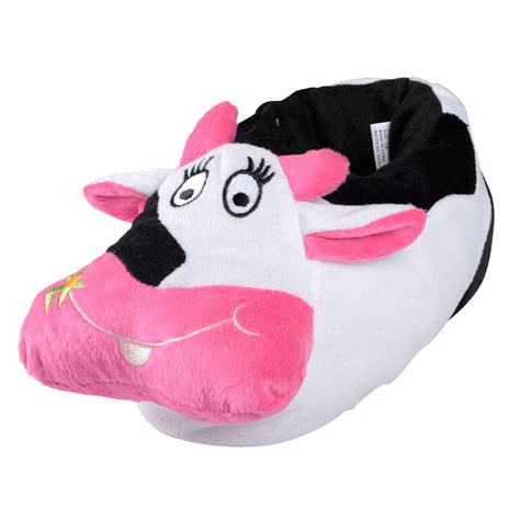 womens novelty slippers novelty slippers for mad cow padded plush