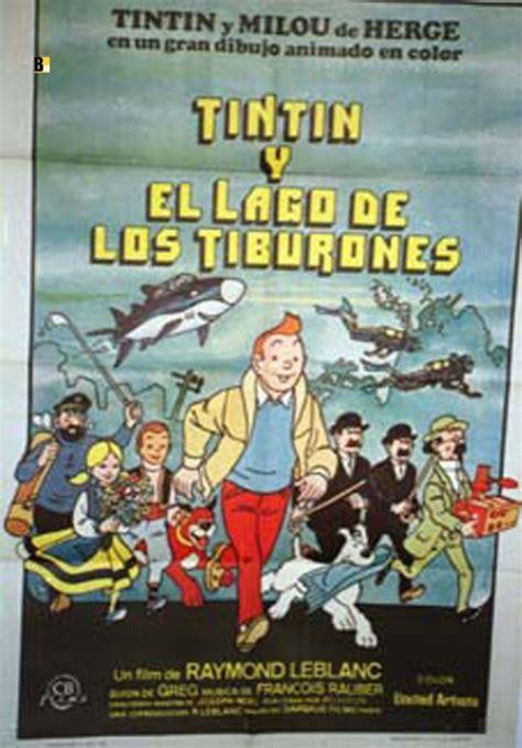 tintin y el lago 8426113907 quot tintin y el lago de los tiburones quot movie poster quot tintin et le lac aux requins quot movie poster
