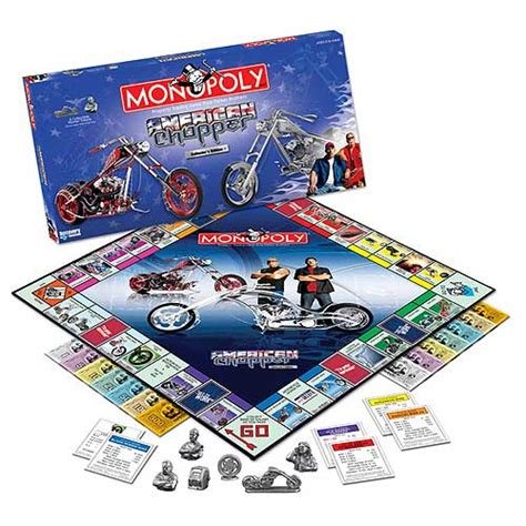 themes of monopoly board games monopoly american chopper edition