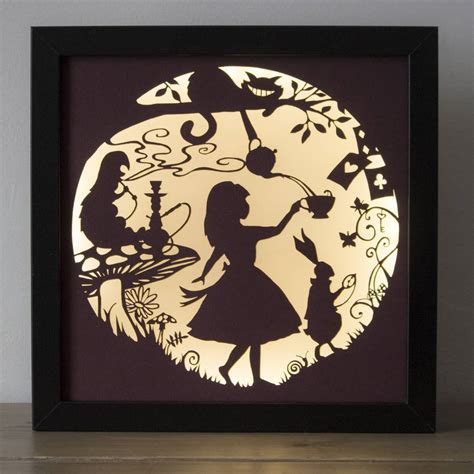 alice in wonderland silhouette lamp alice silhouettes