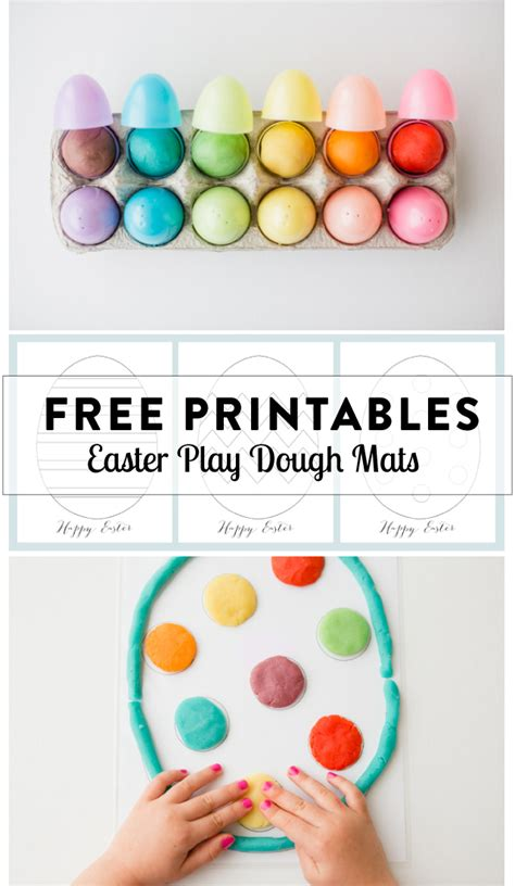 free printable spring playdough mats play dough mats for your easter baskets free printables