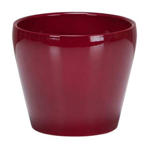 indoor plant pot scheurich indoor plant pot dark red 11cm at wilko com