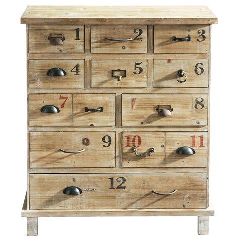 distressed wood cabinet w 82cm anatole maisons du monde