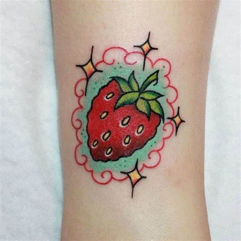 strawberry tattoos best 20 strawberry ideas on