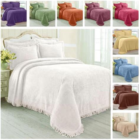 Cotton Bedspreads Size Greenhome123 100 Cotton Chenille Bedspread Select Color