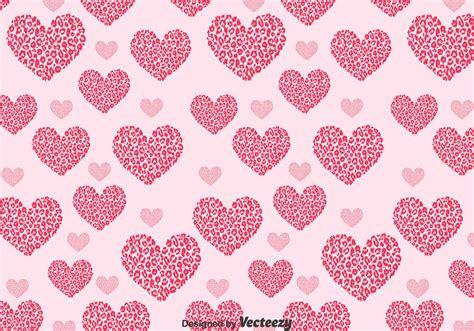 Love Shape Pattern Vector | love shape leopard pattern download free vector art