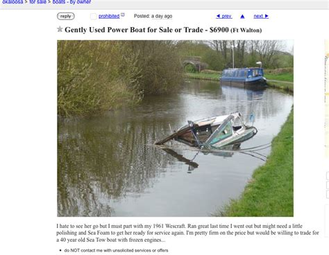 used boat parts craigslist okaloosa florida the best quot boat quot on craig s list page 7 the hull truth