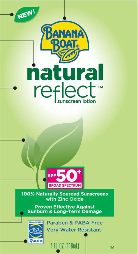 banana boat sunscreen zinc oxide dailymed banana boat natural reflect sunscreen spf 50
