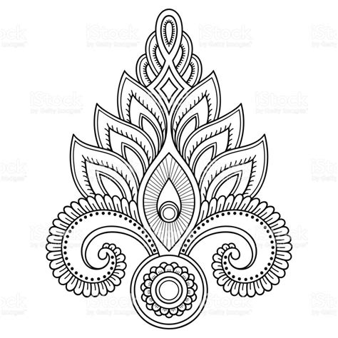 indian style tattoos henna flower template in indian style ethnic
