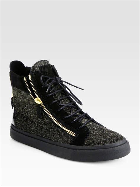 zips sneakers giuseppe zanotti zip chevron hightop sneakers in