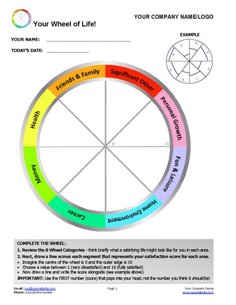 career wheel template updated free wheel of template with