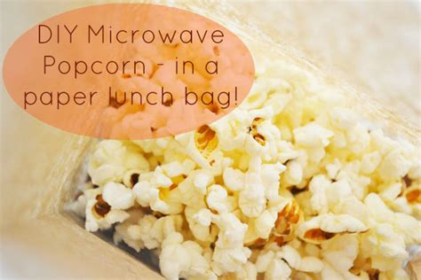 Popcorn In A Paper Bag In The Microwave - diy microwave popcorn in a paper lunch bag
