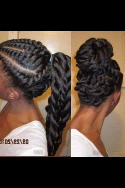 twist and ponytail hairstyles flat twists ponytail and updo black hair information