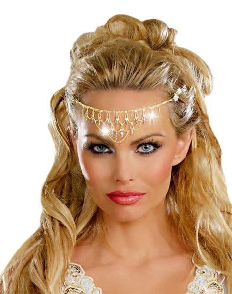 Rhinestone Headpiece gold rhinestone headpiece