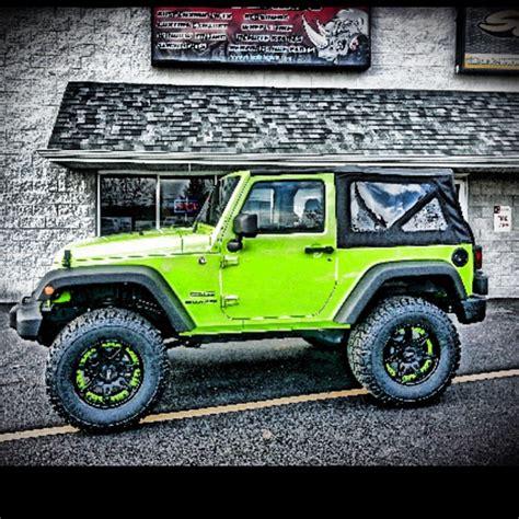 Jeep Wrangler Lime Green Lime Green Jeep Wrangler Sprayed At Rhino Linings Of De