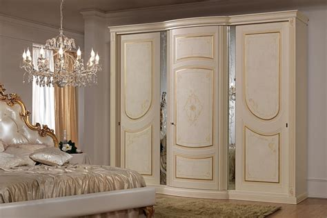 Decorative Wardrobes by Wardrobe In Classic Style With Decorative Mirrors Idfdesign