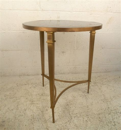 Granite End Table by Regency Brass And Granite End Table At 1stdibs