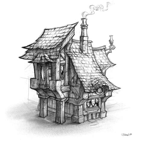 house sketch world of warcraft cataclysm art pictures house sketch