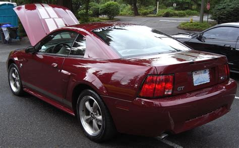 crimson 2004 ford mustang gt 40th anniversary edition