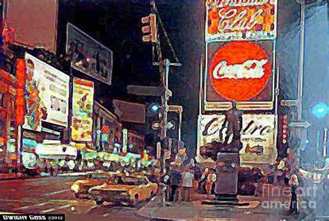 paint the nite nyc times square by in new york city 1960 painting by