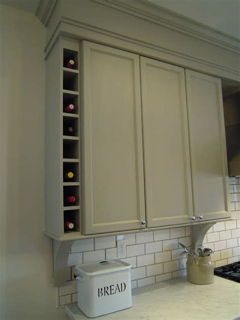 kitchen cabinet bulkhead idea added a wine cubby at the end of the wall cabinets