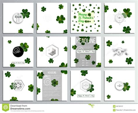 set of 12 creative cards square brochure template design
