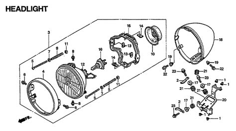 wiring diagram for honda vt1100c headlight honda pc800