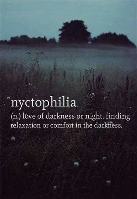 comfort love nyctophilia the love of darkness or night finding