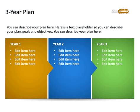 template for a 3 year business plan free 3 year strategic plan powerpoint template free