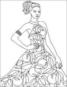 fashion coloring pages coloringpagesabc