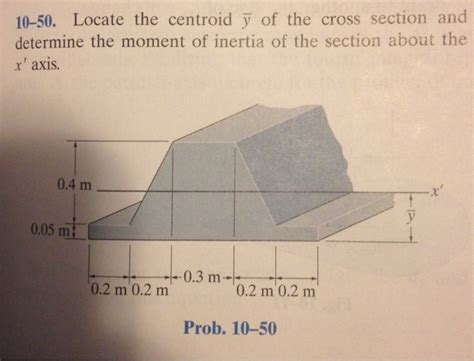 cross section moment of inertia locate the centroid y of the cross section and det