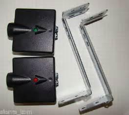 How To Adjust Garage Door Sensors by Genie Garage Door Opener Safety Sensors With Brackets